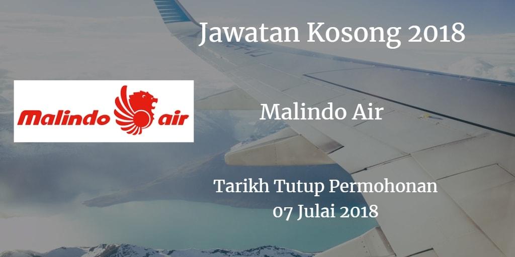 Jawatan Kosong Malindo Air 07 Julai 2018