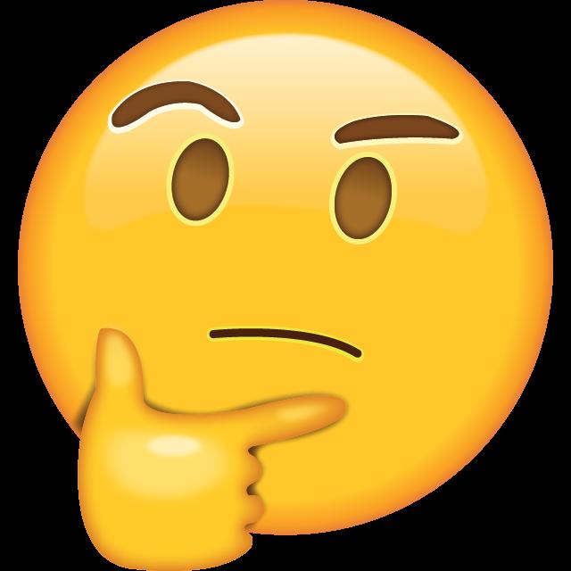 Think emoji, Emoji Thought WhatsApp Emoticon, emoji, smiley, sticker, computer Icons png free png