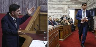 Ο Γεράσιμος Σκιαδαρέσης μπήκε μέσα στη Βουλή και ανέβασε κανονική θεατρική παράσταση