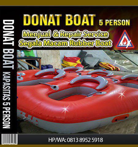 donat boat kapasitas 5 orang