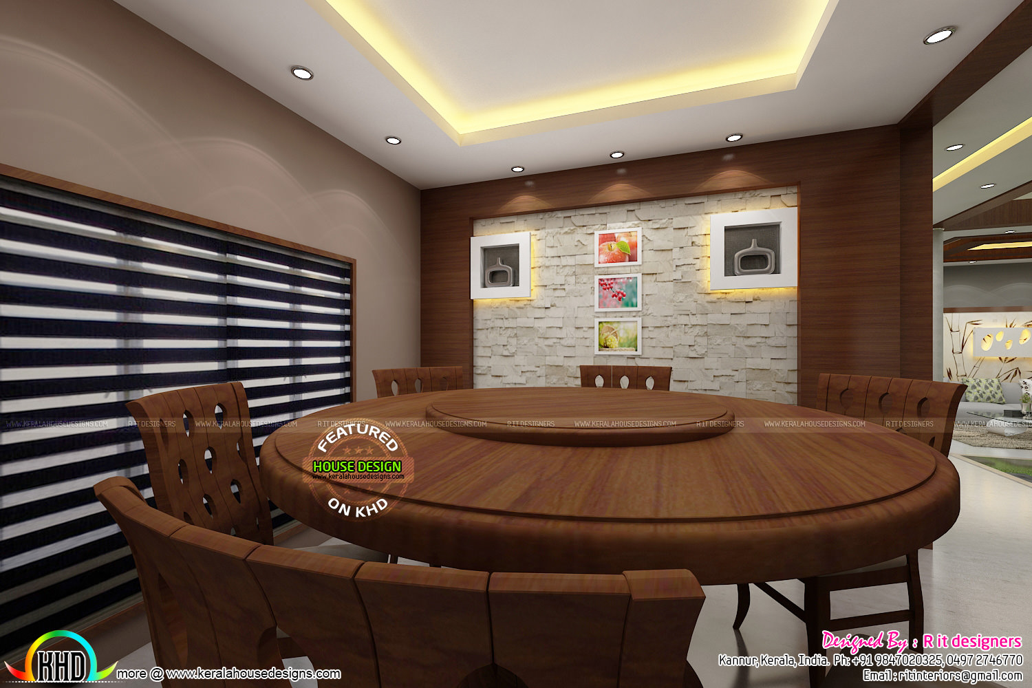 Stunning home in india with interior kerala home design for Dining room designs india
