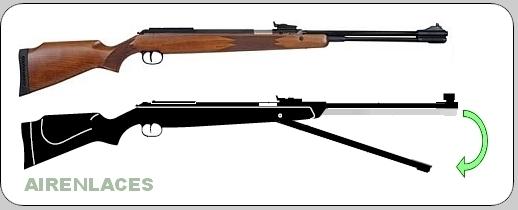 Rifle de aire de cañón fijo
