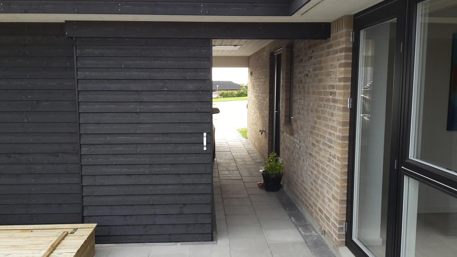 Beregning af boligstøtte: Skydedør udendørs skur
