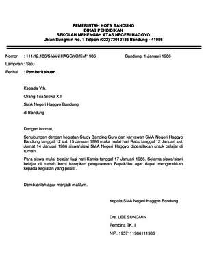 Contoh Surat Dinas Brainly (via: brainly.co.id)