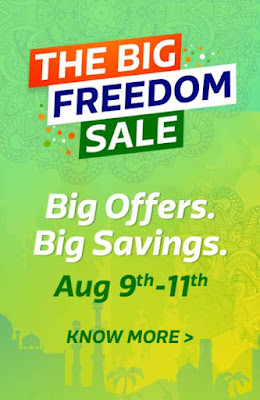 Flipkart Big Freedom Sale 9th -11 August, 10% discount on HDFC cards