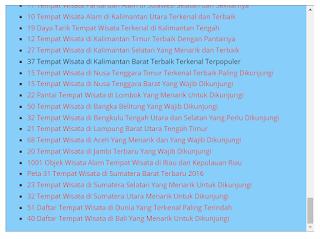 cara membuat daftar postingan keren di blog