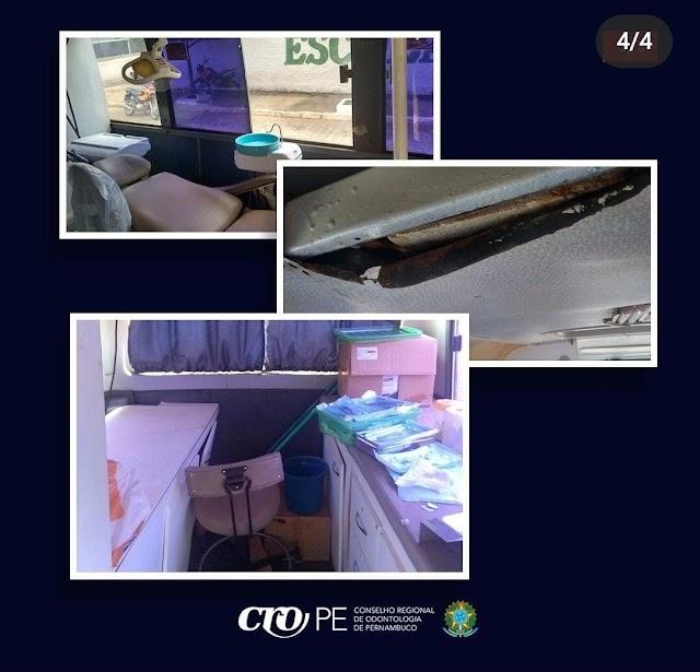 Fiscalização do CRO-PE interdita unidade móvel irregular no município de Afrânio