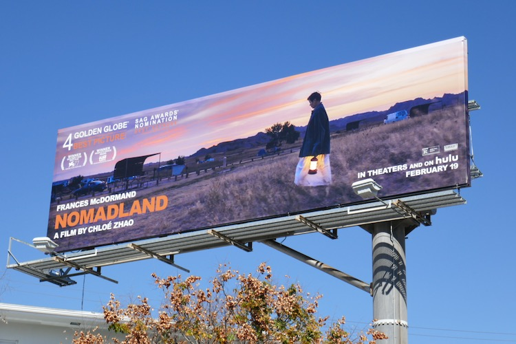Nomadland movie billboard