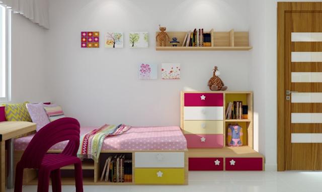 Phòng ngủ nhấn nhá hoạ tiết đa dạng