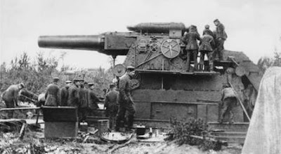 A large German gun during First World War