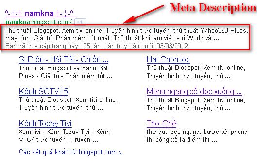 Meta decription quyết định nhiều tới việc Click