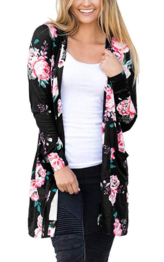 Coat Tops Outwear -  Black2