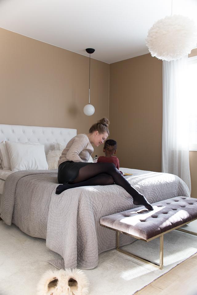 Villa H, äitiys, vanhemmus, kotoilu, oma tyyli, makuuhuone