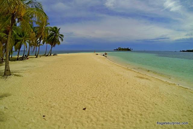 Praia em San Blas, Panamá