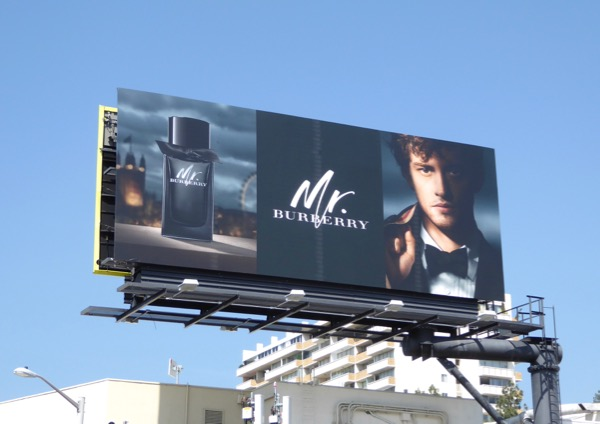 Mr Burberry fragrance Spring 2017 billboard