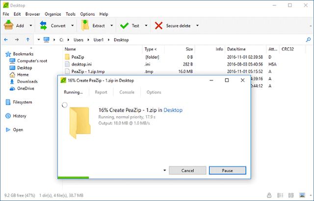 برنامج PeaZip لضغط الملفات الكبيرة جديد 2017 كامل