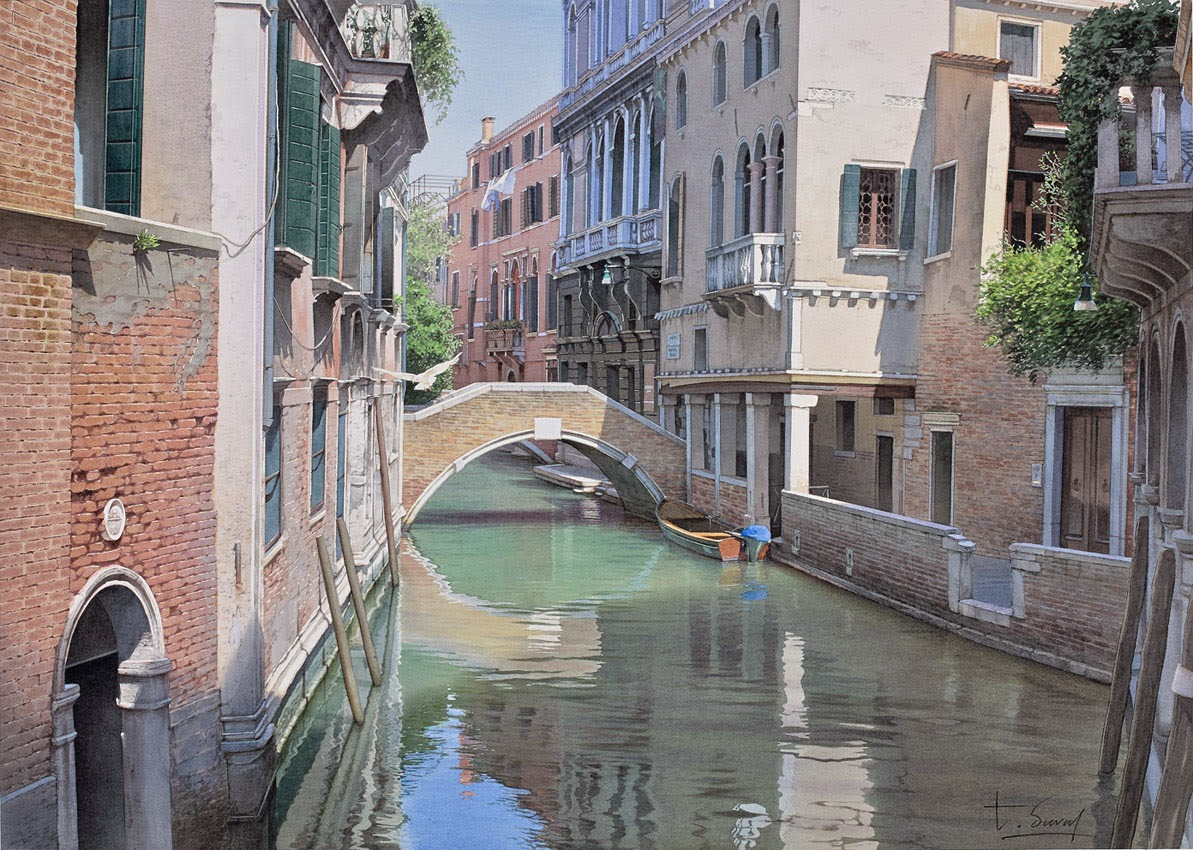 16-Venice-Thierry-Duval-Snippets-of Real-Life-in Watercolor-Paintings-www-designstack-co