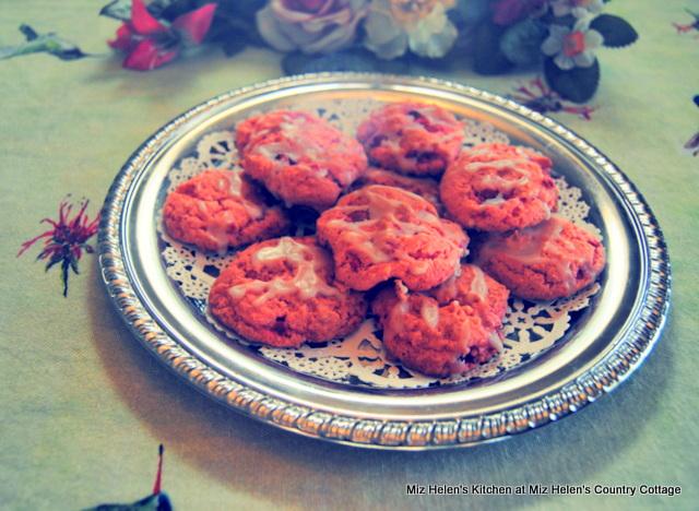 Fresh Strawberry Cookies With Vanilla Glaze at Miz Helen's Country Cottage