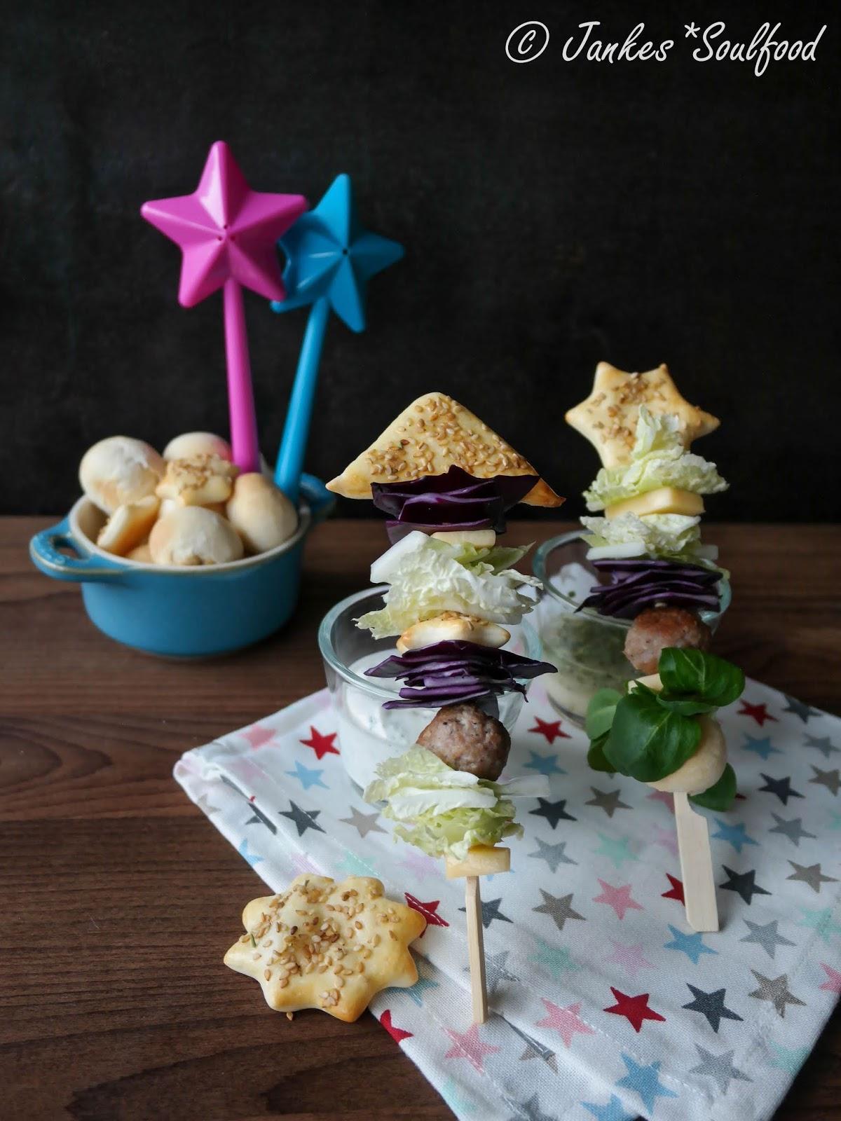 Salat-Spieße für die Silvesterparty