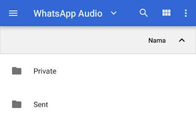 Cara Menyimpan Audio Kiriman Whatsapp