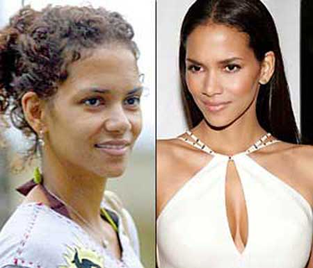 Celebrity without makeup before and after similar. You