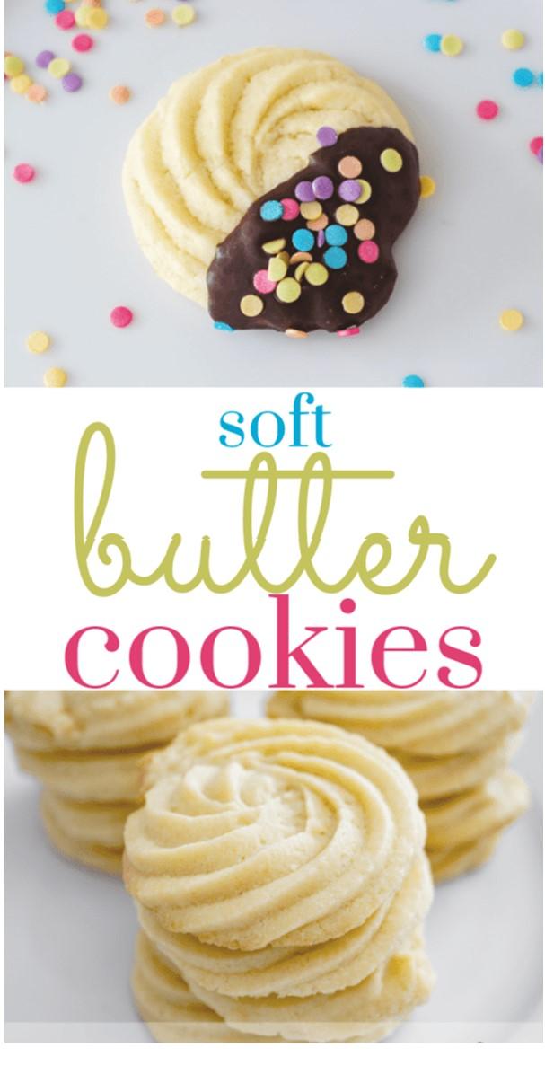 Soft Butter Cookies #cookiesrecipes