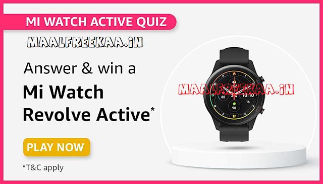 Amazon Mi Watch Active Quiz Time Contest