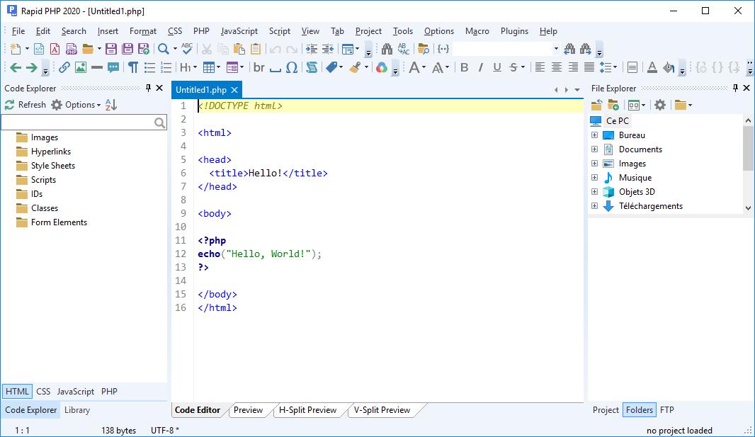 تحميل برنامج لتطوير مواقع الويب أو التطبيقات المستندة إلى الويب Blumentals HTMLPad 2020 v16.0.0.220