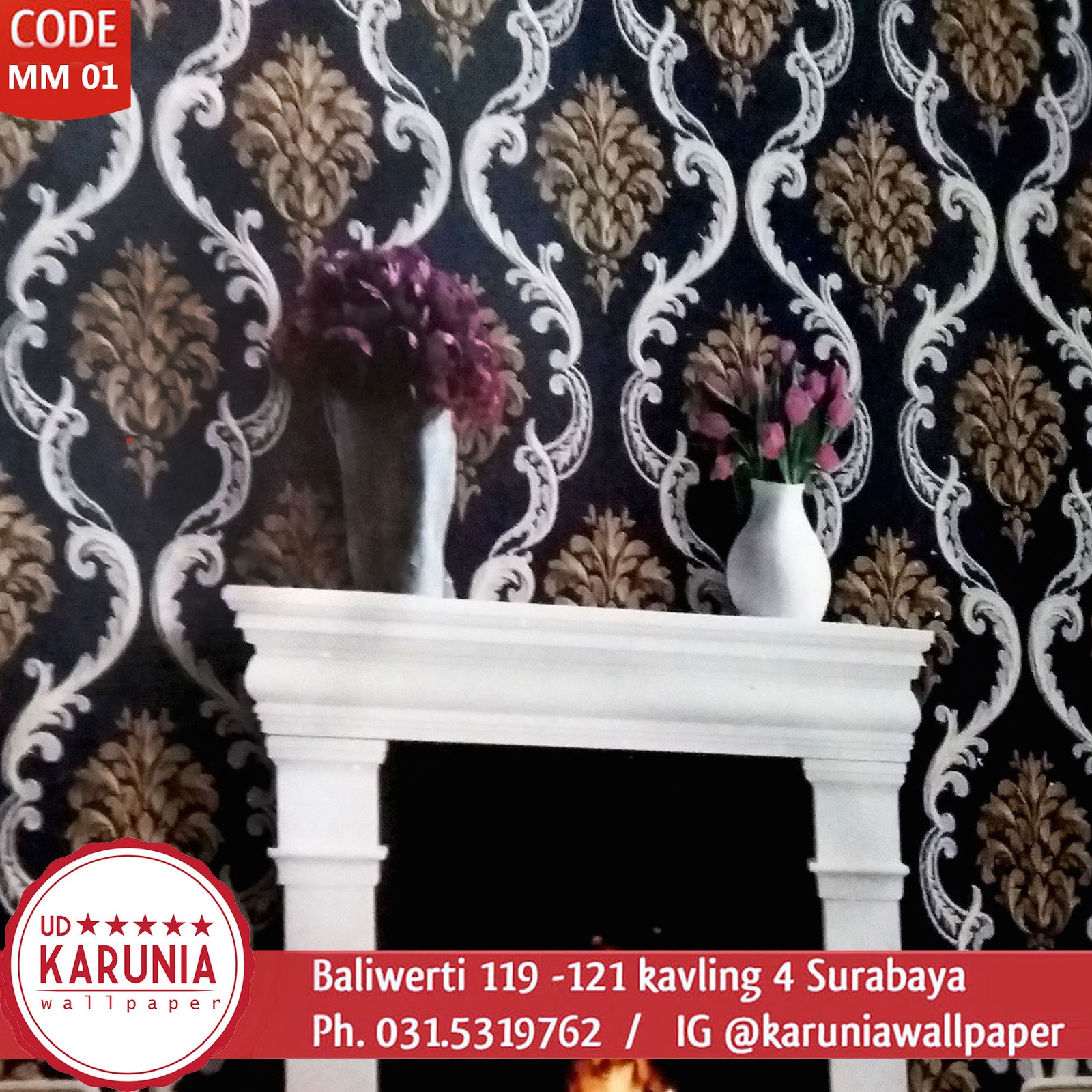 KOLEKSI WALLPAPER KLASIK ORNAMEN KARUNIA WALLPAPER