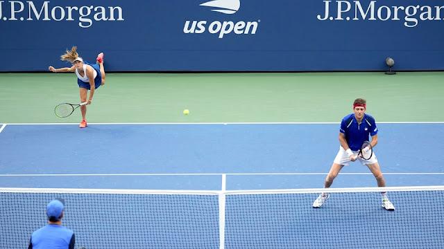 Marcelo Demoliner e Ellen Perez em ação pelo US Open
