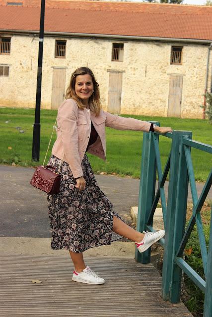 jupe balzac paris, veste mango, look du jour, les petites bulles de ma vie