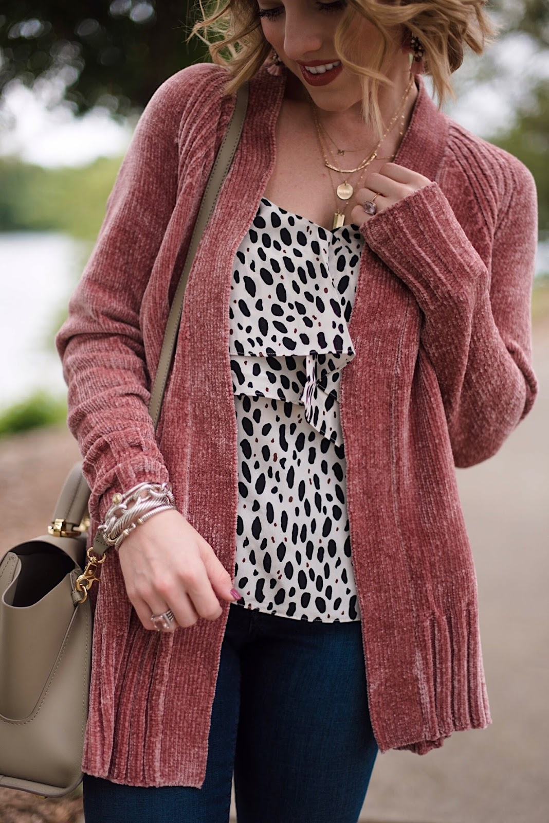 Cozy Cardigan for Fall in Dusty Rose - Something Delightful Blog