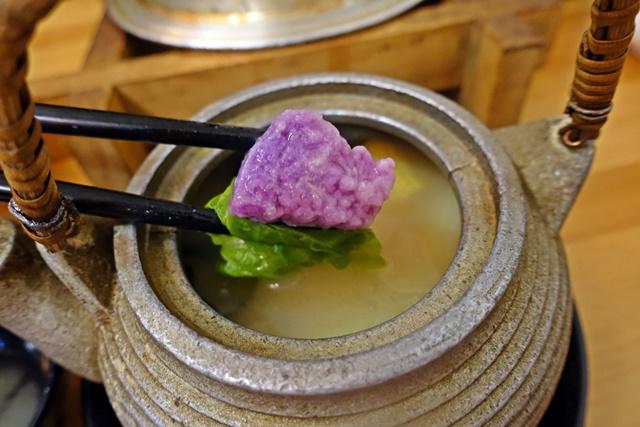 紫山藥、土瓶蒸、味噌湯