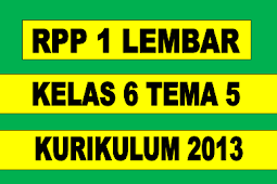 RPP 1 LEMBAR KELAS 6 TEMA 5 REVISI 2020