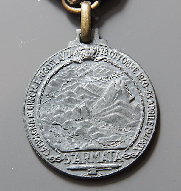 Medaglia commemorativa della 9° Armata della Campagna di Grecia e Jugoslavia in zama