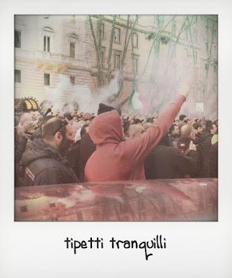 Taxi, la protesta a Porta Pia