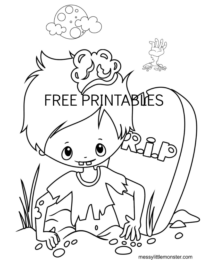 Printable Halloween coloring sheets
