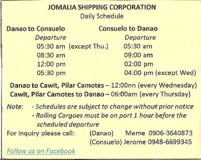 Jomalia Shipping schedule