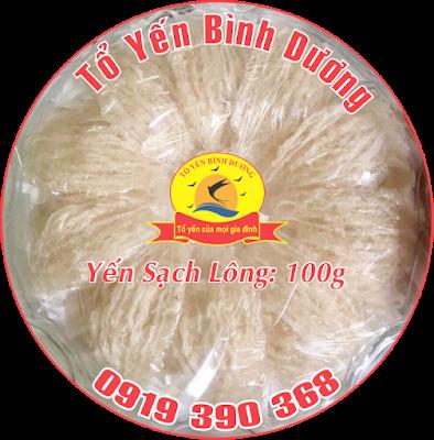 Yến sào Bến Cát nguyên chất - Yến sào sạch lông 100g