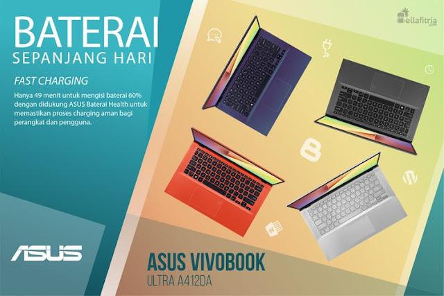 ASUS VivoBook 14 A412DA - Baterai Sepanjang Hari