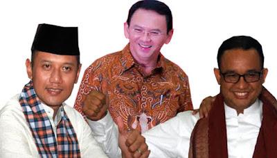 Hillary Clinton vs Donald Trump, Ahok vs Agus, Ahok vs Anies, Basuki Tjahaja Purnama, Jokowi, Jakarta, Indonesia, Ahok
