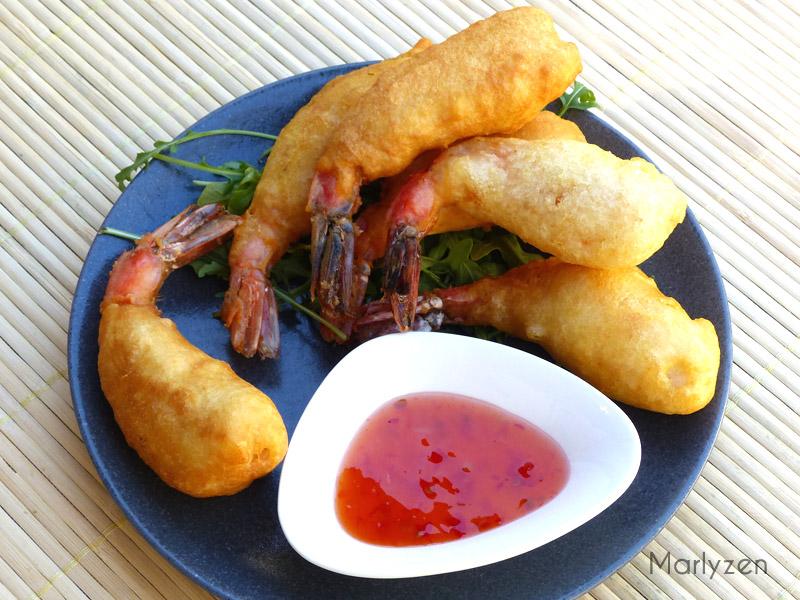 Beignets de crevettes croustillants