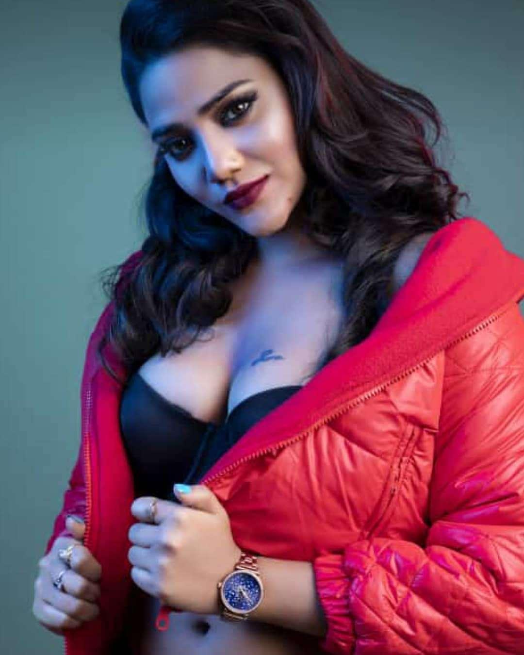Black and Red Dress Rukmani Khandagale sexy  Imagines