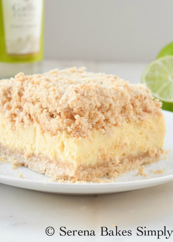 Key Lime Cheesecake Bars are a perfect dessert for picnics, potlucks and gatherings from Serena Bakes Simply From Scratch.
