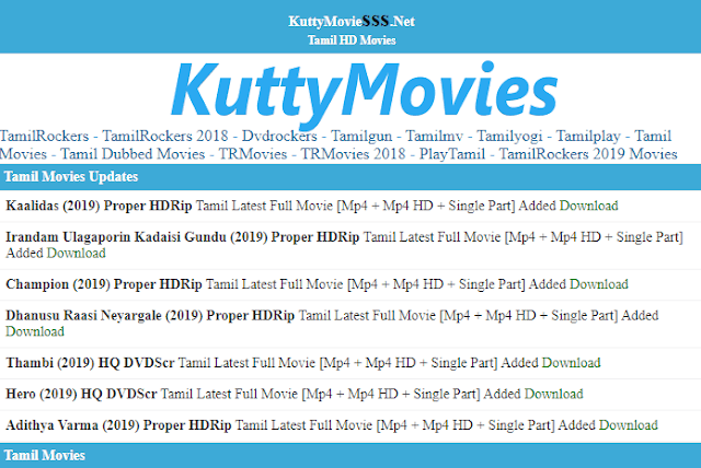 kuttymovies net: 2020 Latest HD Movies Download on Kuttymovies