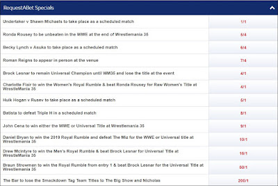 Sky Bet - WrestleMania 35 RequestABet For November 11th 2018