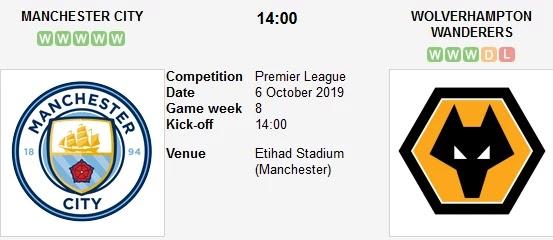 مشاهدة مباراة مانشستر سيتي وولفرهامبتون بث مباشر 06/10/2019 الدوري الإنجليزي