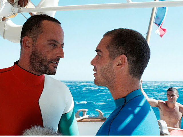 "Jean Reno (Enzo) and Jean-Marc Barr (Jacques)  ""The Big Blue"" (1988)"
