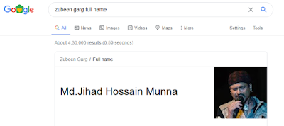 Zubeen Garg or Zihadi Hossain Munna? What is the real full name of Zubeen Garg?