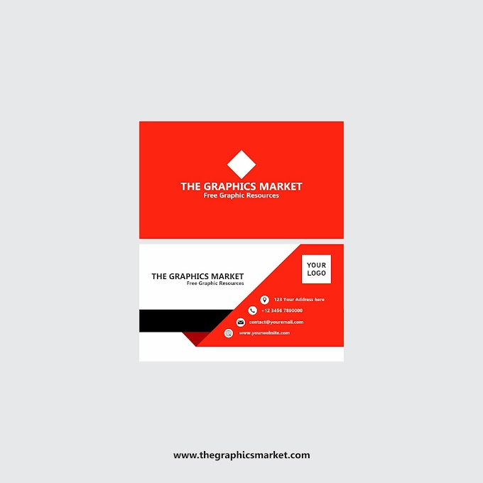 The Graphics Market Business Card Design | Free Download
